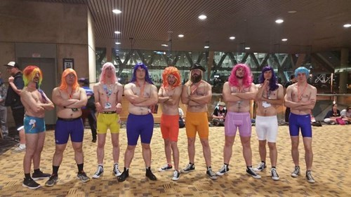 Meanwhile at BronyCon... Friendship is Manly