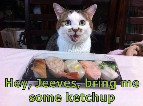 Hey, Jeeves, bring me some ketchup