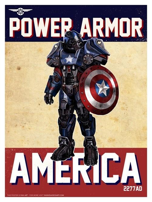 Captain America's Wasteland Power Armor