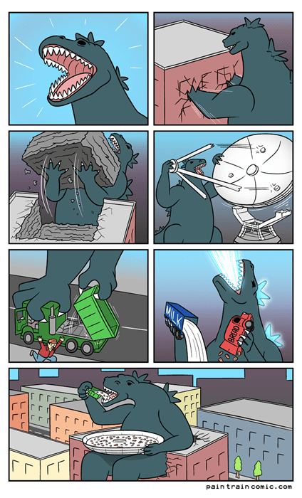 Godzilla is a Monstrous Cereal Killer