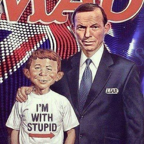 The Australian Prime Minister is the new Alfred E. Neuman for Mad Magazine.