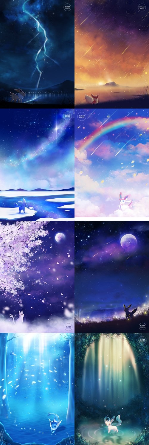 Eeveelutions in Their Element
