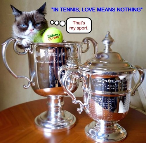 """IN TENNIS, LOVE MEANS NOTHING"""