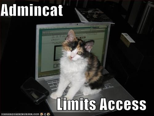 Admincat  Limits Access