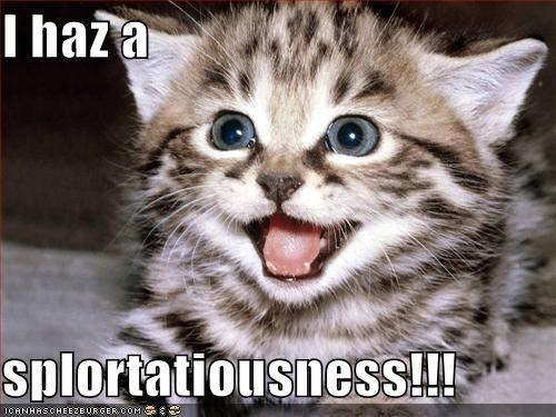 I haz a  splortatiousness!!!