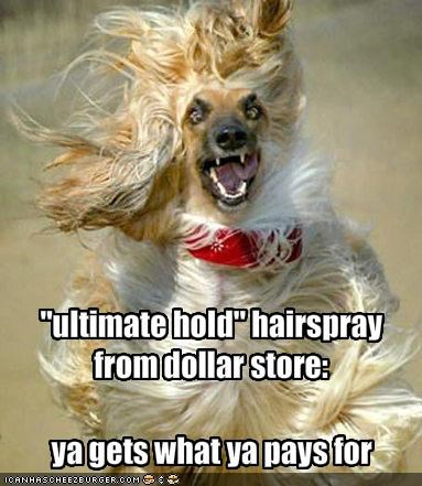 """ultimate hold"" hairspray from dollar store:"