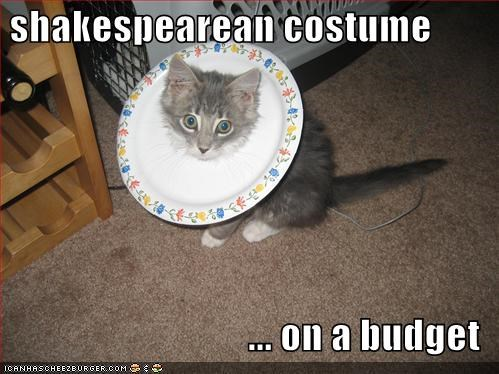 budget,costume,cute,kitten,lolcats,lolkittehs,plate,shakespeare