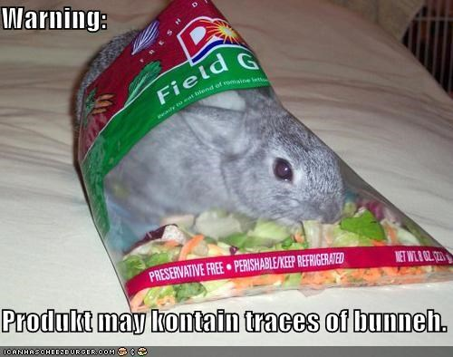 Warning:  Produkt may kontain traces of bunneh.