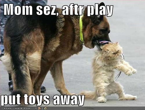 Mom sez, aftr play  put toys away