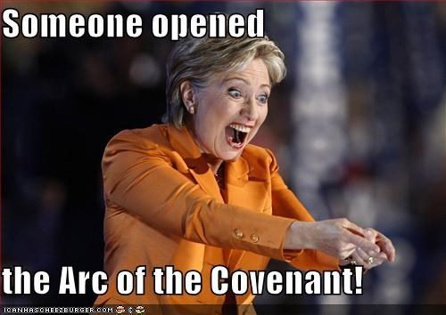Someone opened   the Arc of the Covenant!