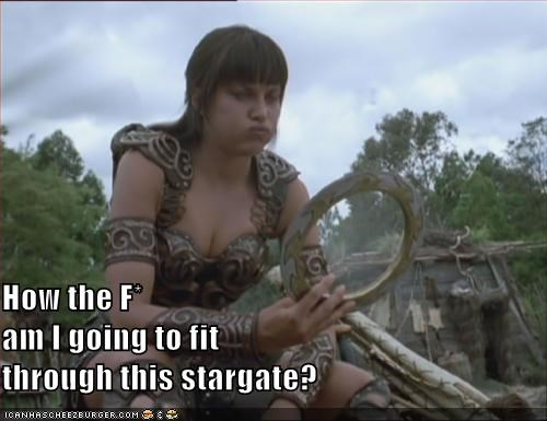 How the F* am I going to fit through this stargate?