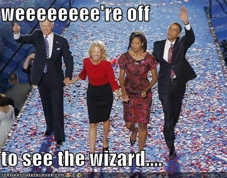 weeeeeeee're off  to see the wizard....