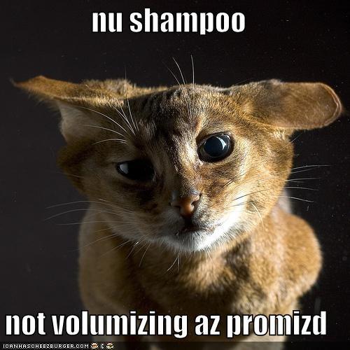 nu shampoo  not volumizing az promizd