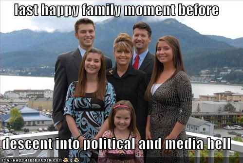 last happy family moment before  descent into political and media hell