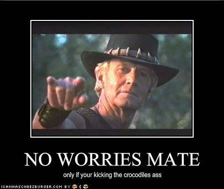 NO WORRIES MATE - Cheezburger - Funny Memes   Funny Pictures