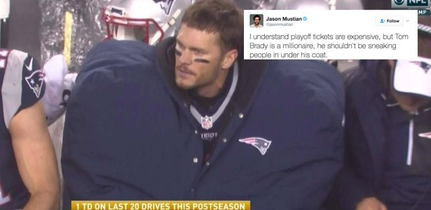 1dcda6034 For Some Inexplicable Reason Tom Brady Wore a Giant Coat and The Internet  Is Memeing the Shit Out of Him - FAIL Blog - Funny Fails