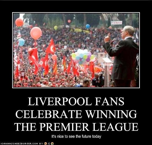 Liverpool Fans Celebrate Winning The Premier League