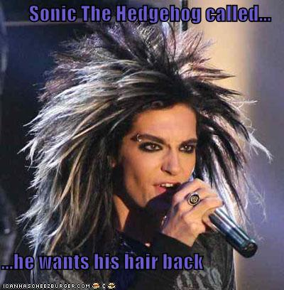 Sonic The Hedgehog Called He Wants His Hair Back Cheezburger Funny Memes Funny Pictures