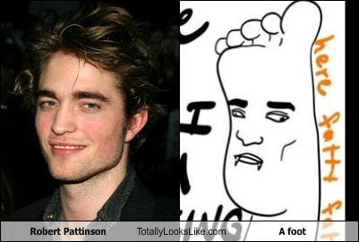 Robert Pattinson Totally Looks Like A foot - Cheezburger ...