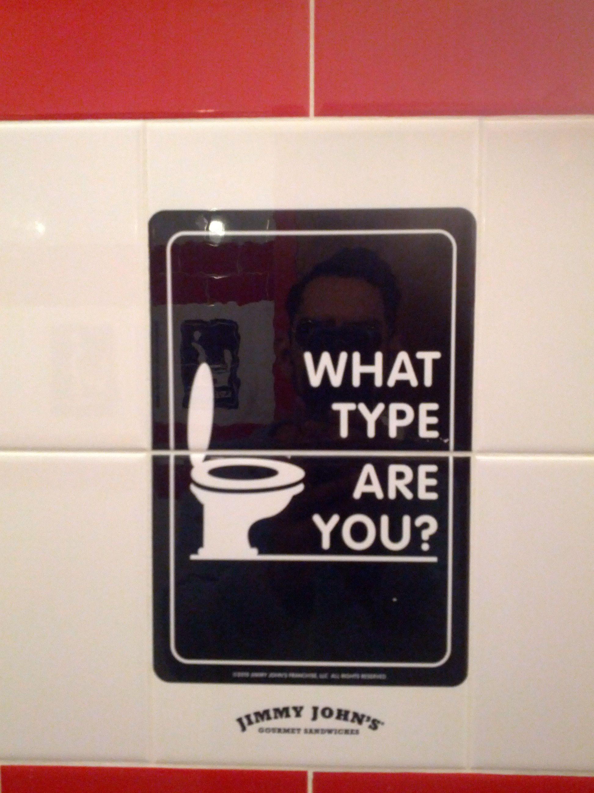 Jimmy Johns  Has Brilliant Bathroom Tiles That Ask You What Type of Restroom  User You Are   Memebase   Funny Memes. Jimmy Johns  Has Brilliant Bathroom Tiles That Ask You What Type