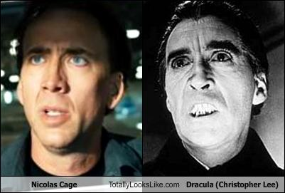 Nicolas Cage Totally Looks Like Dracula (Christopher Lee ...
