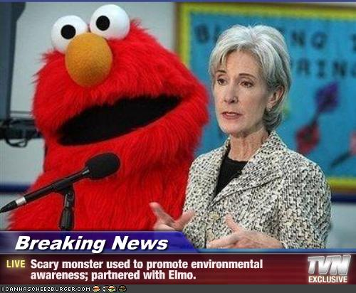 Breaking News Scary Monster Used To Promote Environmental