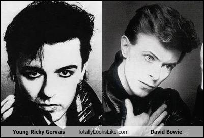 Young Ricky Gervais Totally Looks Like David Bowie ...