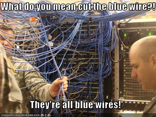 what do you mean cut the blue wire   they u0026 39 re all blue