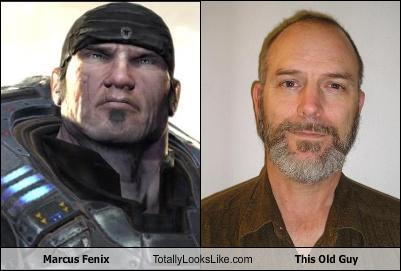 Marcus Fenix Totally Looks Like This Old Guy Cheezburger