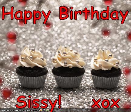 happy birthday sissy xox cheezburger funny memes
