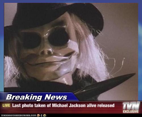 Breaking News - Last photo taken of Michael Jackson alive ...