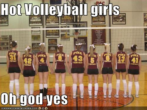 Hot Volleyball Girls Oh God Yes Cheezburger Funny