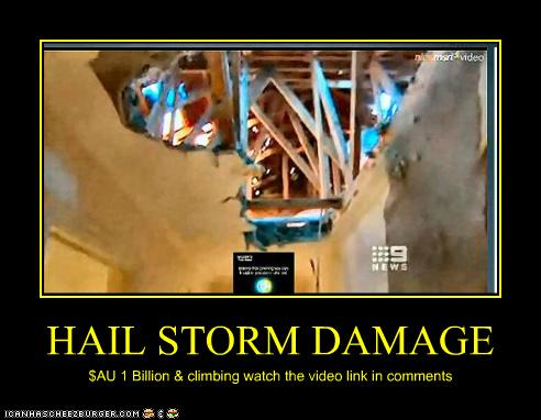 Hail Storm Damage Cheezburger Funny Memes Funny Pictures