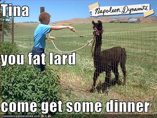 Tina Eat Your Food You Fat Lard