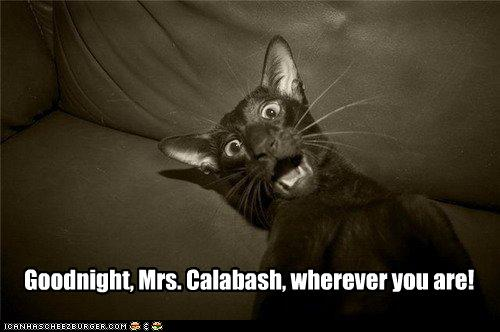 Good night mrs calabash where ever you are