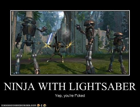 Ninja With Lightsaber Cheezburger Funny Memes Funny