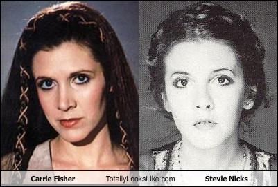 Carrie Fisher Totally Looks Like Stevie Nicks Totally