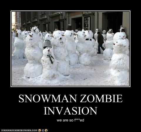 Free Dating Sites >> SNOWMAN ZOMBIE INVASION - Cheezburger - Funny Memes | Funny Pictures
