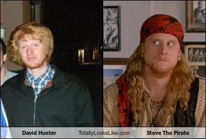 david hunter totally looks like steve the pirate cheezburger