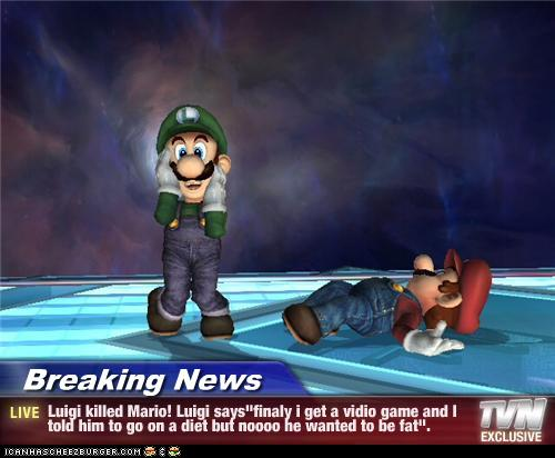 Breaking News Luigi Killed Mario Luigi Says Finaly I Get