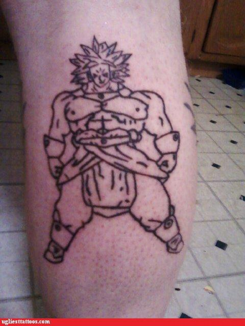 Ugliest Tattoos Dragon Ball Z Bad Tattoos Of Horrible Fail