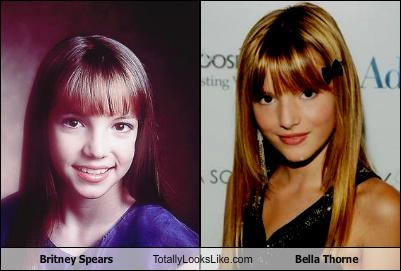 Britney Spears Totally Looks Like Bella Thorne - Totally Looks Like