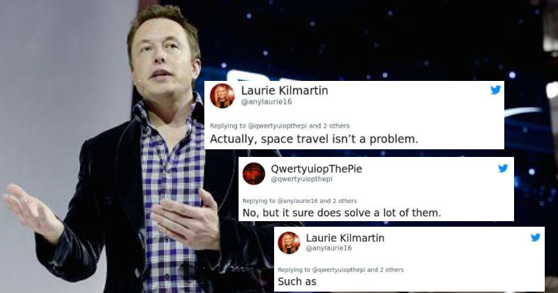 Woman Gets Natural Disaster-Level Destroyed After Giving Elon Musk Sh*t On Twitter