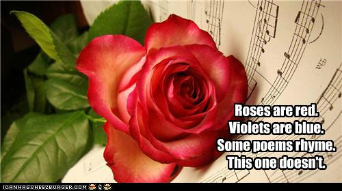 roses are red violets are blue some poems rhyme this