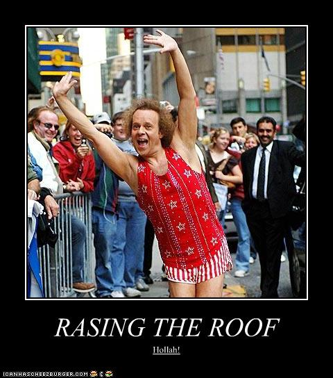 Raising The Roof Pop Culture Funny Celebrity Pictures