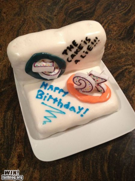 Fine Portal Cake Win Win Epic Win Photos Personalised Birthday Cards Veneteletsinfo