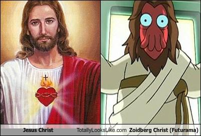 jesus christ totally looks like zoidberg christ futurama totally