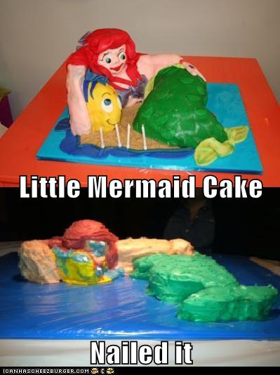 Little Mermaid Cake Nailed It Cheezburger Funny Memes