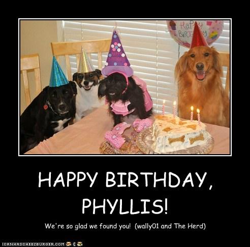 HAPPY BIRTHDAY, PHYLLI...