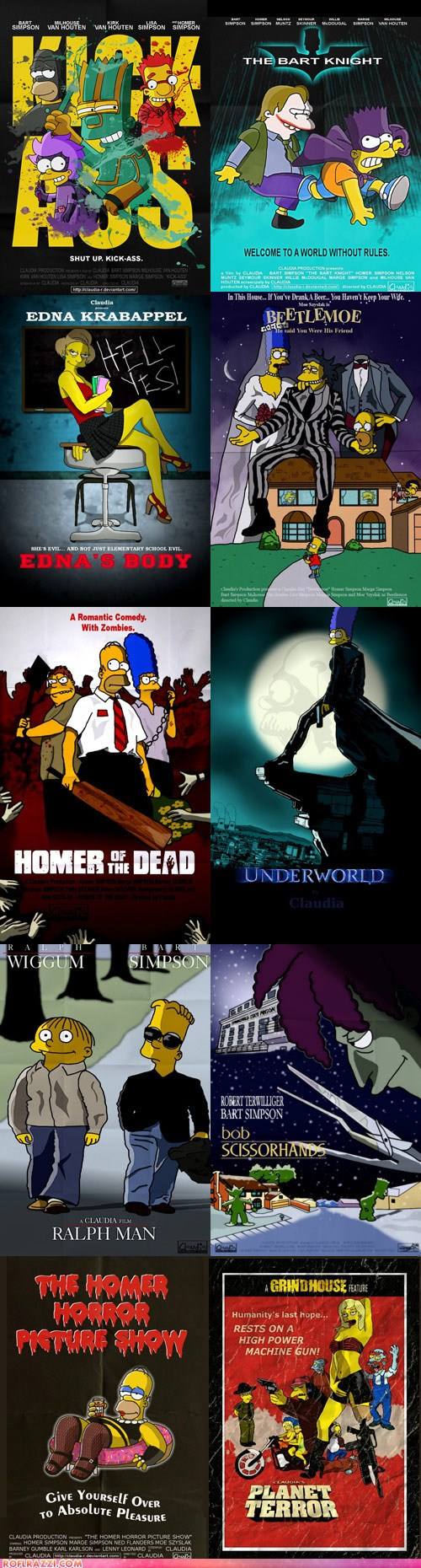The Simpsons Movie Poster Parodies Pop Culture Funny Celebrity Pictures